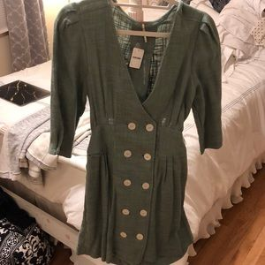 NWT Free People dress with buttons